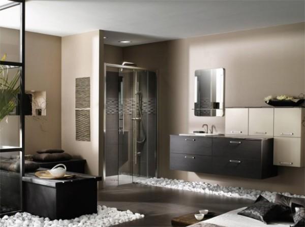salle de bain italienne galets zen