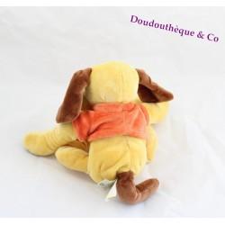 doudou chien jaune et marron baby nat