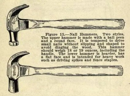 Nail Hammers - Two Styles