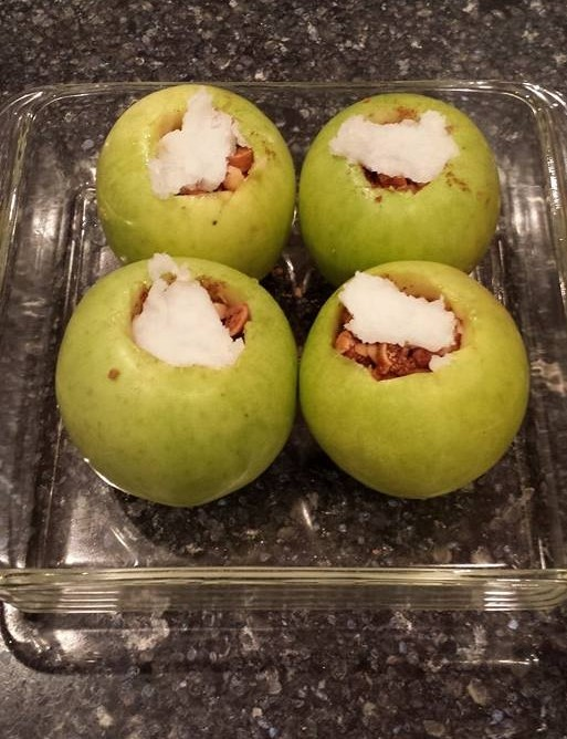 Baked apples with Brazil nuts and figs - by Doug Cook RD