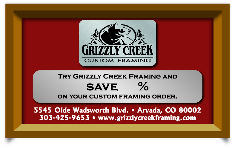 Grizzly Creek Custom Framing ad - February 2012 - appeared in four publications