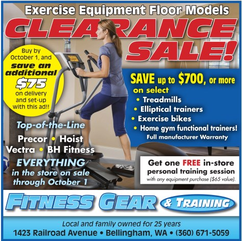 Straight from the pages of the 2013-09-12 issue of The Northern Light is this advertisement for Fitness Gear and Training.