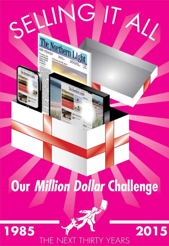 Point Roberts Press Motivational Poster - Million Dollar Challenge (Jan. 2015)