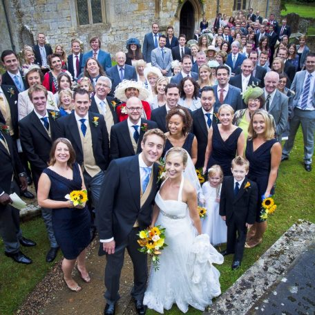 The wedding of Peter and Georgie Thomas.