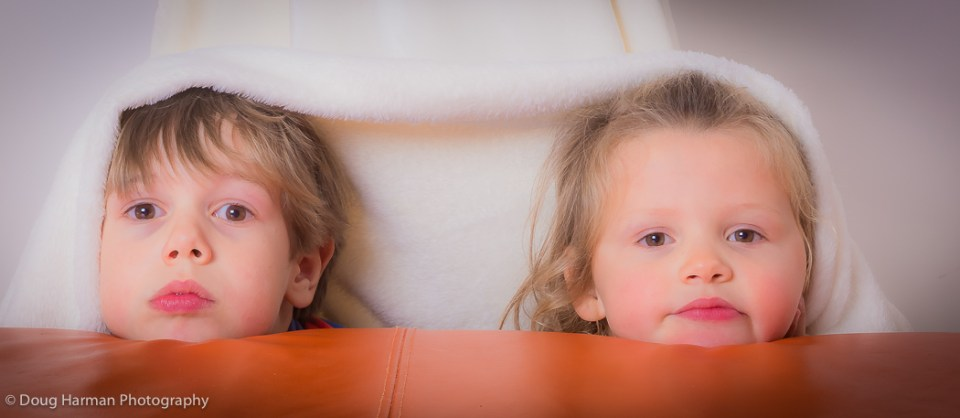 Reuben and Violet pose for their fun portraits