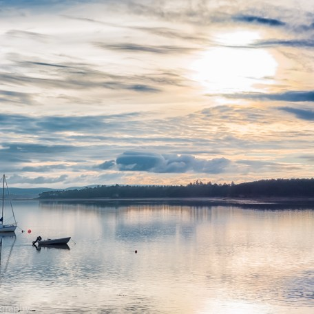 Findhorn Bay and small boats, looking West. Full day tuition, digital-photography-tuition