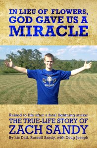 "Front cover of the book ""In Lieu of Flowers, God Gave Us a Miracle"""