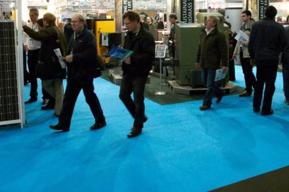 Where does all the Ecobuild blue carpet go after Ecobuild?