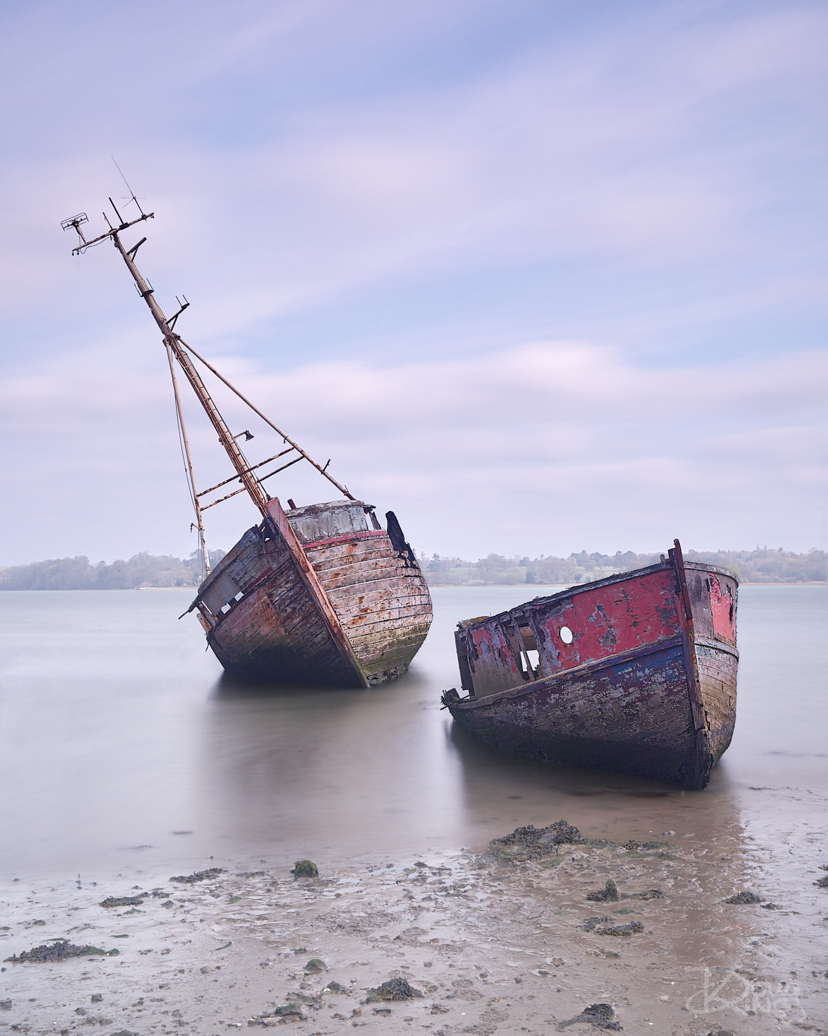 Old Boat Wrecks at Pin Mill Essex