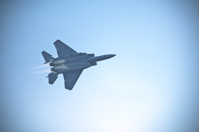 F-15 Flying Over