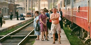 Passengers on the Trans-Siberian Railroad
