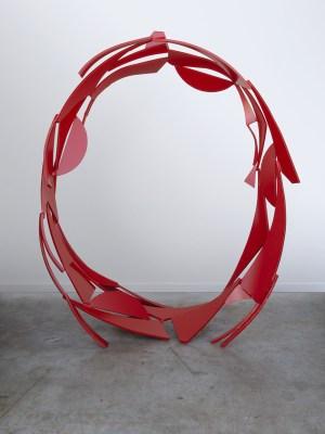 Rings series no. 1, 2014. Painted steel