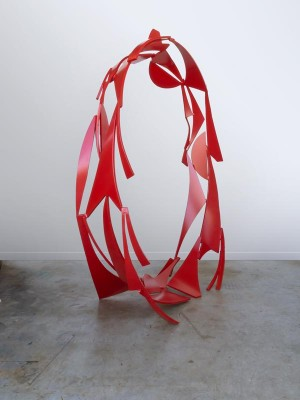Rings series no. 1, 2014. Painted steel