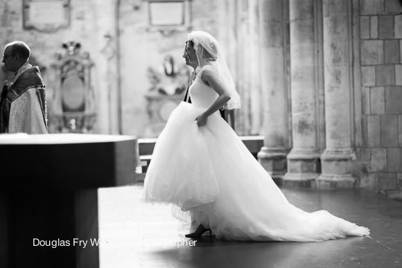 Wedding Photographer Southwark Cathedral London Black and white