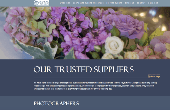 ORNC Old Royal Naval College Trusted Supplier - Photographer