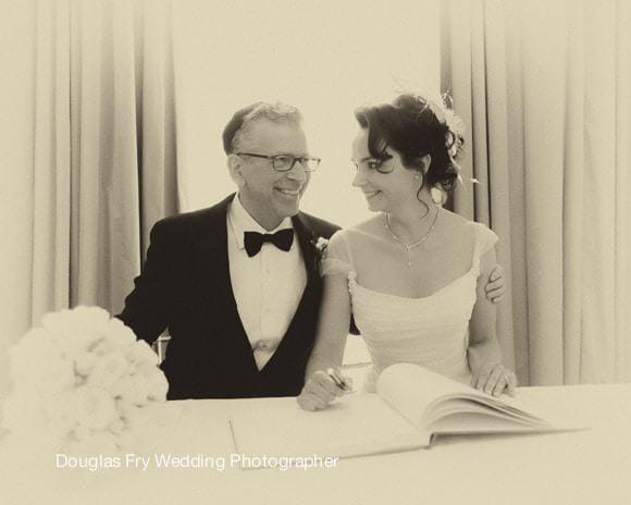 Wedding Photograph - Singing Register at Mandarin