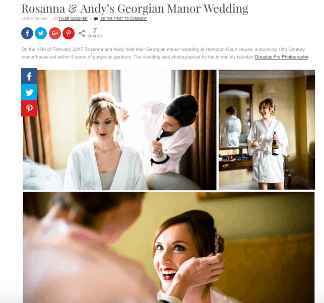 Confetti Real Wedding Feature