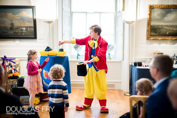 Clown during naming ceremony at Queen's House