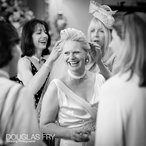 Bride with friends at Cavalry and Guards Club