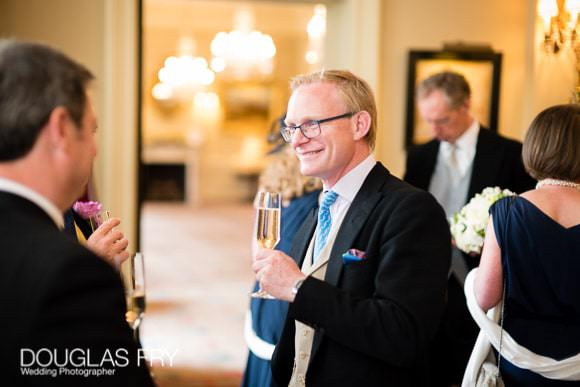 Guests in convesation at Cavalry and Guards Club