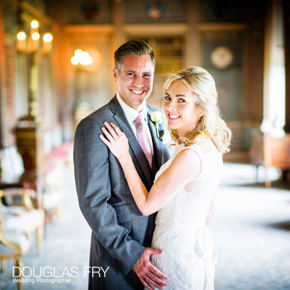 Couple together in Long Gallery at Syon House