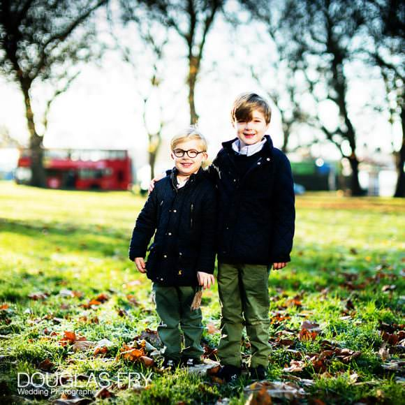 Boys photographed in park in Clapham