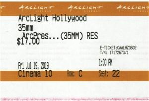 Reservoir Dogs - 35mm - ArcLight Cinemas - Movie Ticket - CINEMA 10