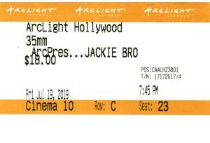 Jackie Brown - 35mm - ArcLight Cinemas - Movie Ticket - CINEMA 10