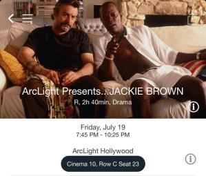 ArcLight Hollywood - Jackie Brown (digital ticket)