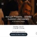 ArcLight Hollywood - Django Unchained (digital ticket)