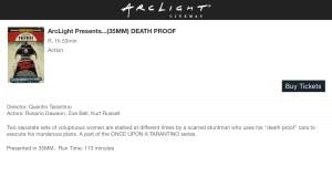 ArcLight Cinemas Presents - Death Proof