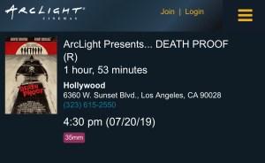 ArcLight Cinemas Presents - Death Proof (screenshot)