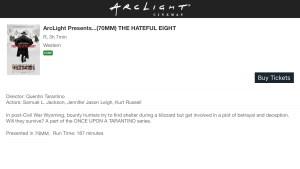 ArcLight Cinemas Presents - The Hateful Eight