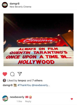 New Beverly Cinema (newbeverly) Emoji Comments on Instagram