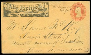 Greenwood postmark by Alta Express