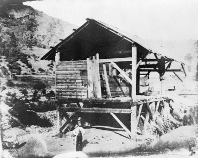 Sutter's Mill with James Marshall possibly in front