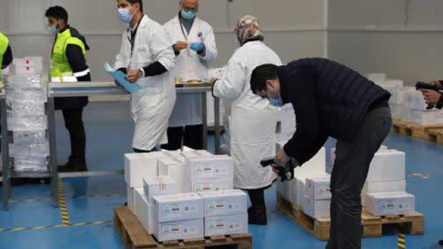 انطلاق عملية توزيع اللقاح ضد فيروس كوفيد-19 على الجهات