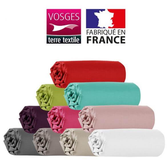 Drap Housse 140 X 190 Cm 100 Coton 57 Fils France