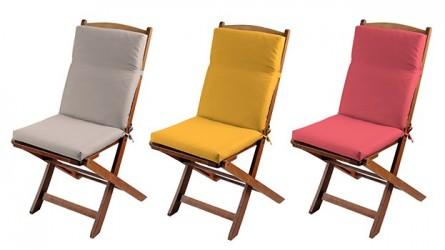 coussin de chaise 43 x 37 x 5 cm oasis