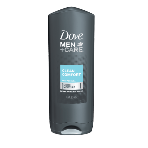 MEN+CARE CLEAN COMFORT BODY AND FACE WASH Start your day with clean skin that feels healthy and strong with this body wash for men that delivers total skin comfort.