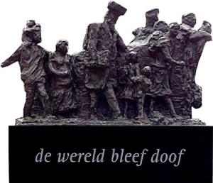 Herdenkingsmonument 'De Wereld bleef doof'. Stichting DovenShoah