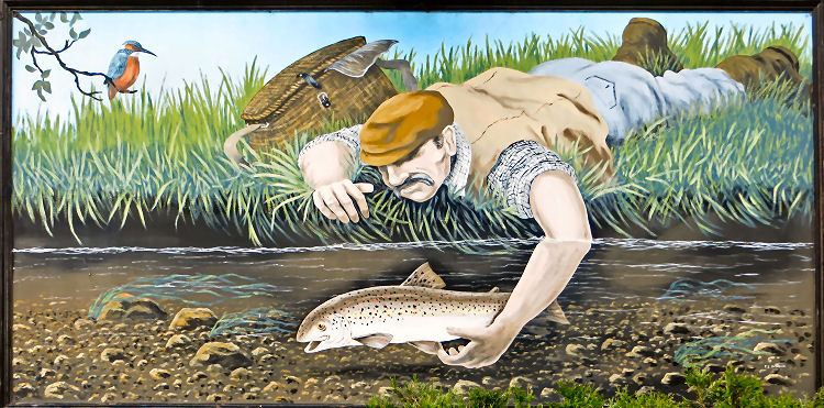 Image result for trout tickling