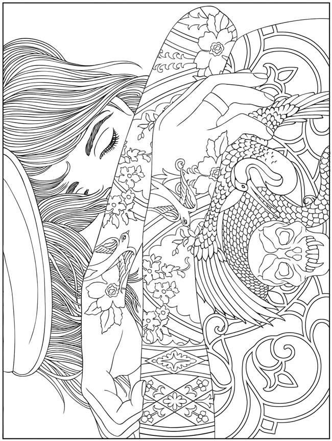 trippy abstract colouring pages