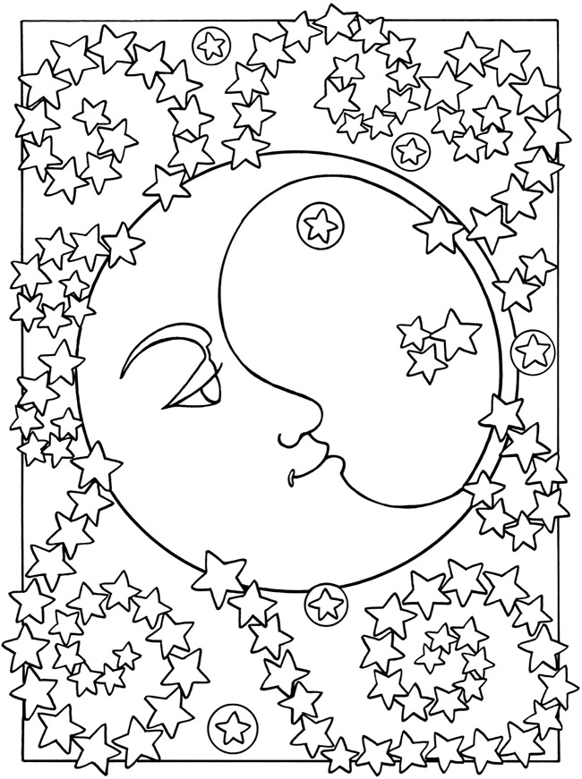 Free Printable Moon Coloring Pages for Kids - Best Coloring Pages ... | 871x650