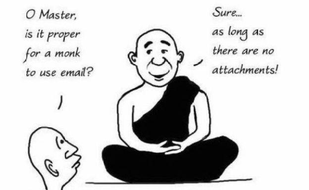 Monk funny attachment comic