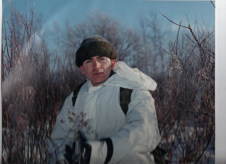 Trent at basic training with the Canadian Military