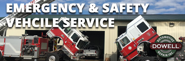 Fire truck and ambulance service