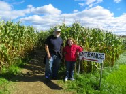 The entrance to the corn maze