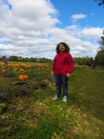 Hannah in the pumpkin patch