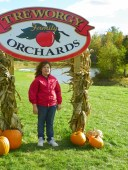 A family day at Treworgy Orchards
